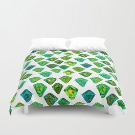 Green gemstone pattern. Duvet Cover