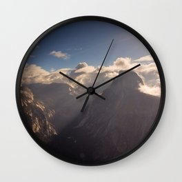Sunrays Over Half Dome Wall Clock