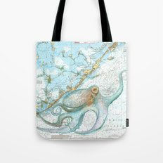Key Largo Octopus Tote Bag