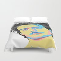 mac Duvet Covers featuring Mac Attack by Grace Teaney Art