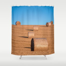 Hay Bale Field BiG Shower Curtain