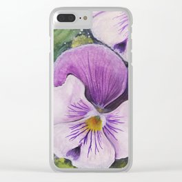 Viola Tricolor Clear iPhone Case