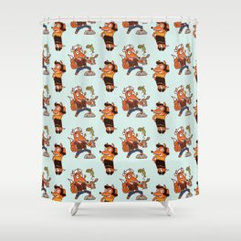Popeye And Olive Fox Shower Curtain