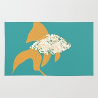 goldfish Area & Throw Rugs featuring Goldfish by Julia Kisselmann
