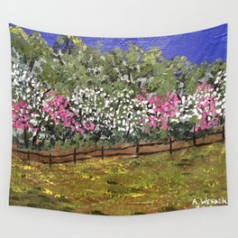 """""""Dogwood and Redbud"""" Wall Tapestry"""