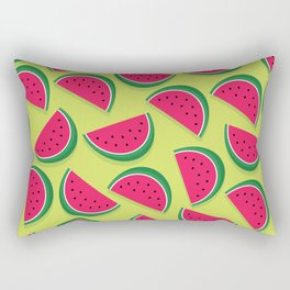 Juicy Watermelon Slices Rectangular Pillow