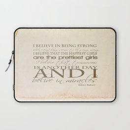I believe in Miracles  Laptop Sleeve