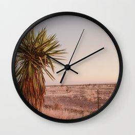 High Desert Sunset Wall Clock