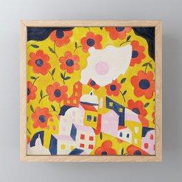 Flower Woman Framed Mini Art Print