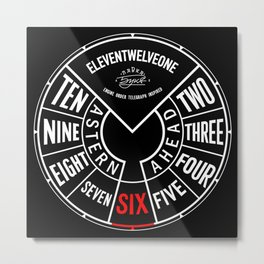 Engine Order Telegraph Inspired Clocks №1 Metal Print
