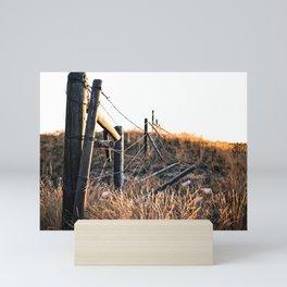 Fence in Color Mini Art Print