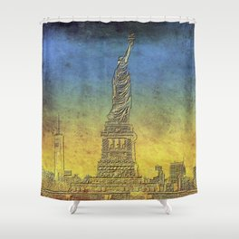 Lady Liberty #4 Shower Curtain