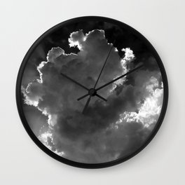Clouds over Lake Constance Wall Clock