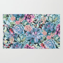 Succulents - For the Memory of a Never-ending Love Rug