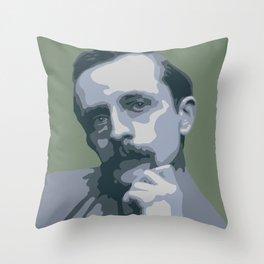 J.M. Barrie Throw Pillow