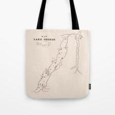 1853 Map of Lake George (sepia) Tote Bag