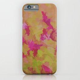 Pink Splatter Garden iPhone Case