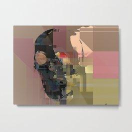 skull on code Metal Print