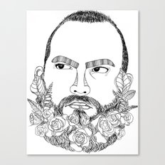 beard's pink flowers Canvas Print