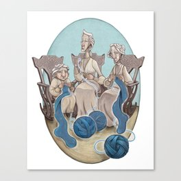 Fate's String Canvas Print