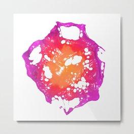 Pink and Orange Latex Flower Metal Print