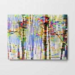 Winter Woods Abstract Metal Print