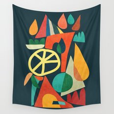 Summer Fun House Wall Tapestry