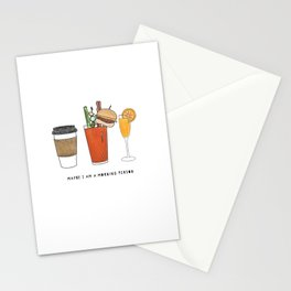 Maybe I Am A Morning Person Stationery Cards