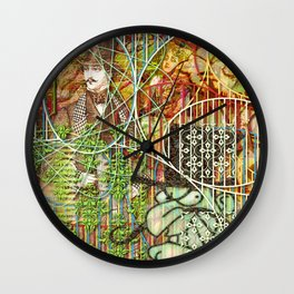Crimson Petal's Lying Decay Wall Clock