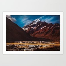 South Island Glacier Art Print