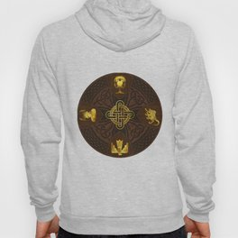 Ilvermorny Knot with House Shields Hoody