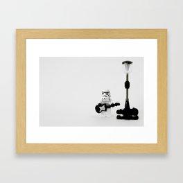 Busking Framed Art Print