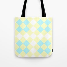 Checkers Yellow/Blue Tote Bag