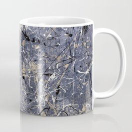 Orion - Jackson Pollock style abstract drip painting by Rasko Coffee Mug