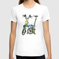 brompton T-shirts featuring My brompton standing up by Swasky
