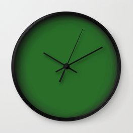 Green Fuzz Wall Clock