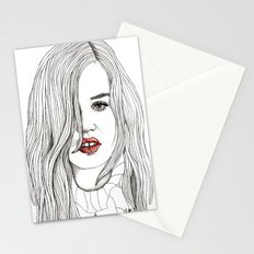 Georgia with Red Lips Stationery Cards