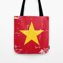 Vietnam Flag with Grunge effect Tote Bag