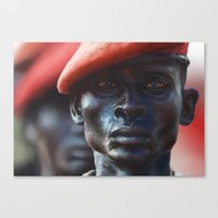 soldier Canvas Prints featuring Soldier by Pavel Sokov