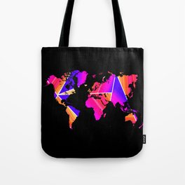 Reflections world map Tote Bag