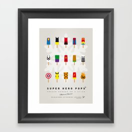 My SUPERHERO ICE POP- UNIVERS Framed Art Print