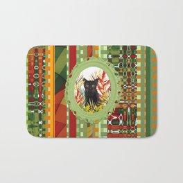 Black Cat jungle Frame pattern Bath Mat