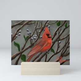Male Cardinal DP151210a-14 Mini Art Print