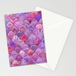 Mermaid Scales - Purple Stationery Cards