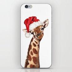 Christmas Giraffe iPhone & iPod Skin
