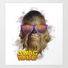 Chewbacca Swag Art Print
