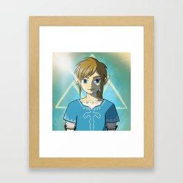 Breath of the Wild Link Framed Art Print