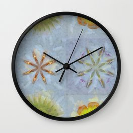 Confusingly Trance Flower  ID:16165-092126-35290 Wall Clock