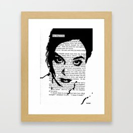One Thing Is Clear Framed Art Print