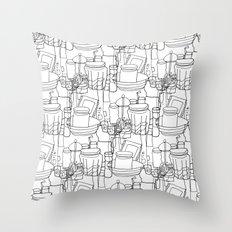 Inside a Kitchen Cupboard Throw Pillow